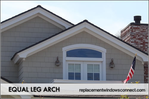 equal leg arch windows
